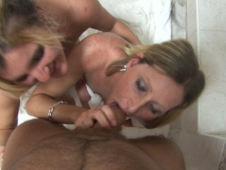 Two horny babes fuck hard at czech..